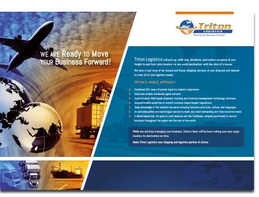 Triton Logistics Flyer Front Side Design