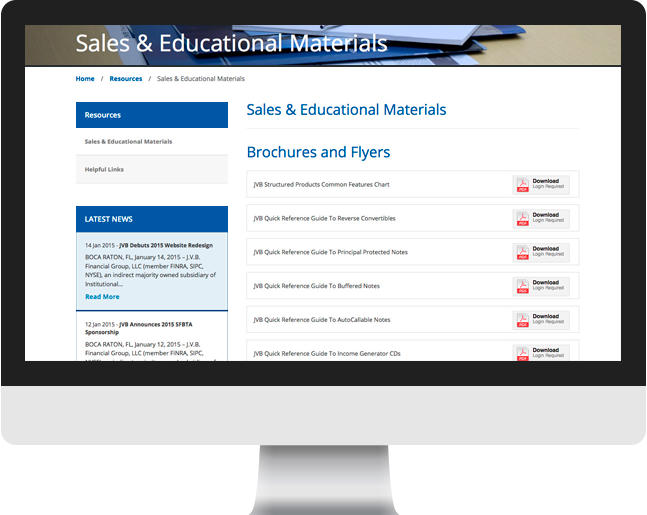 JVB Financial sales educational materials