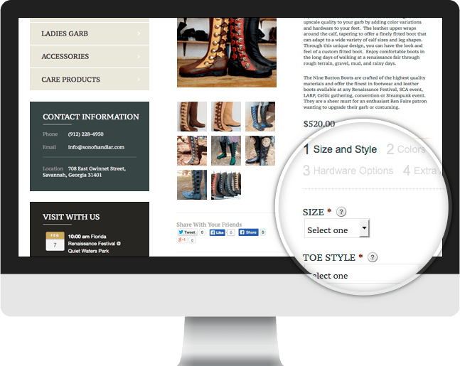 Son of Sandlar ecommerce slider