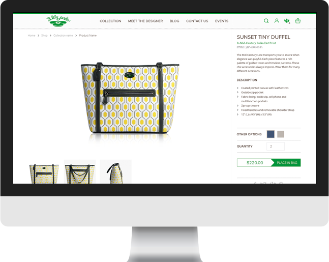 3 lily pads ecommerce slider