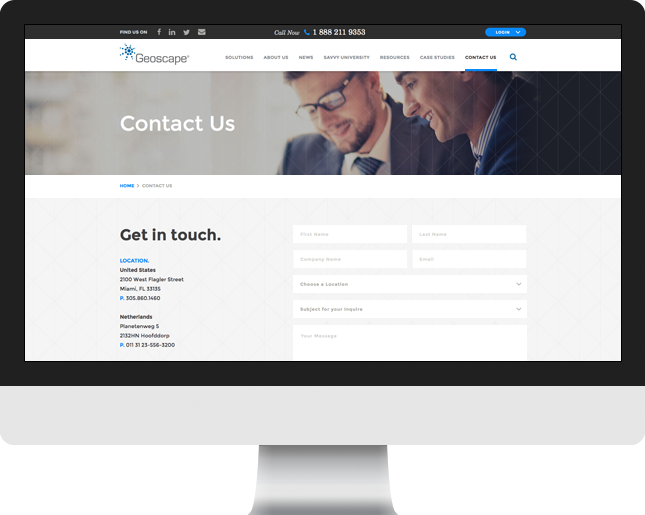 geo contact page