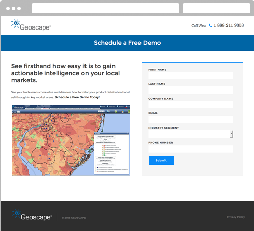 geo schedule a demo landing page